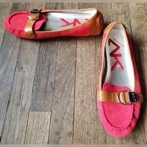 AK Anne Klein Sport Brynne Loafers Pink Leather